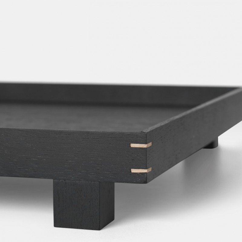 Bon Wooden Tray Large with small legs - Stained Black