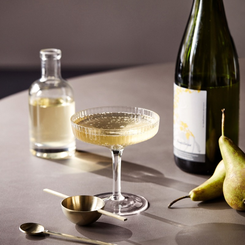 Rippled Champagne Saucer (pack of 2)