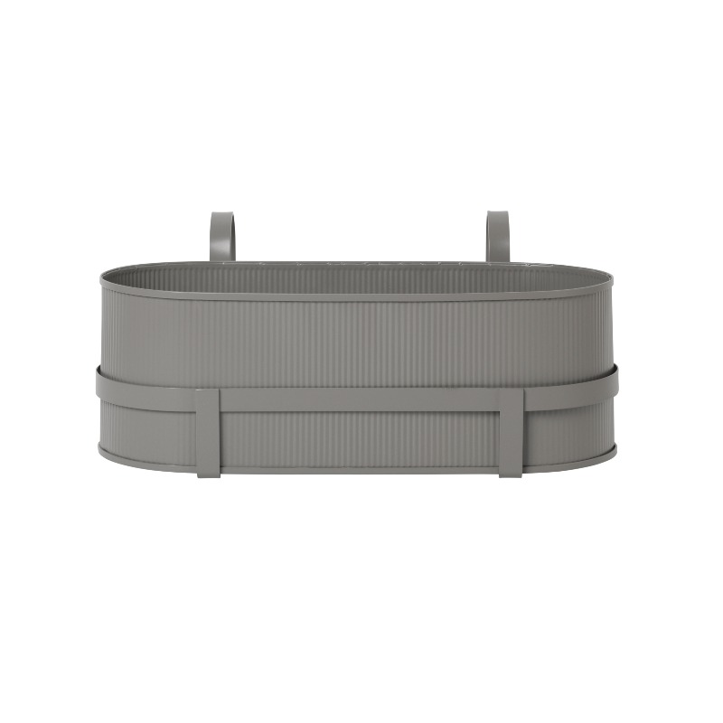 Ferm Living Bau Balcony Plant Box - Warm Grey