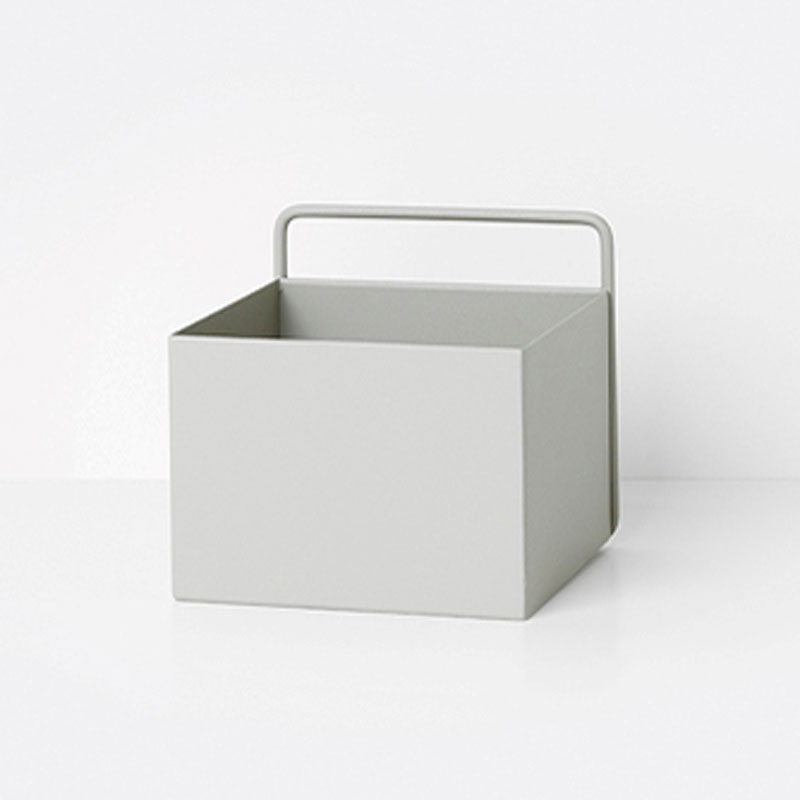 Wall storage Box, Light Grey Square