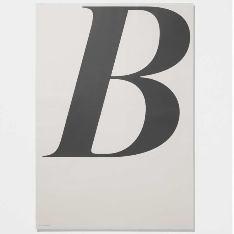 Playtype Poster Letter B